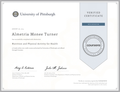 Coursera nutritionforhealth 2014