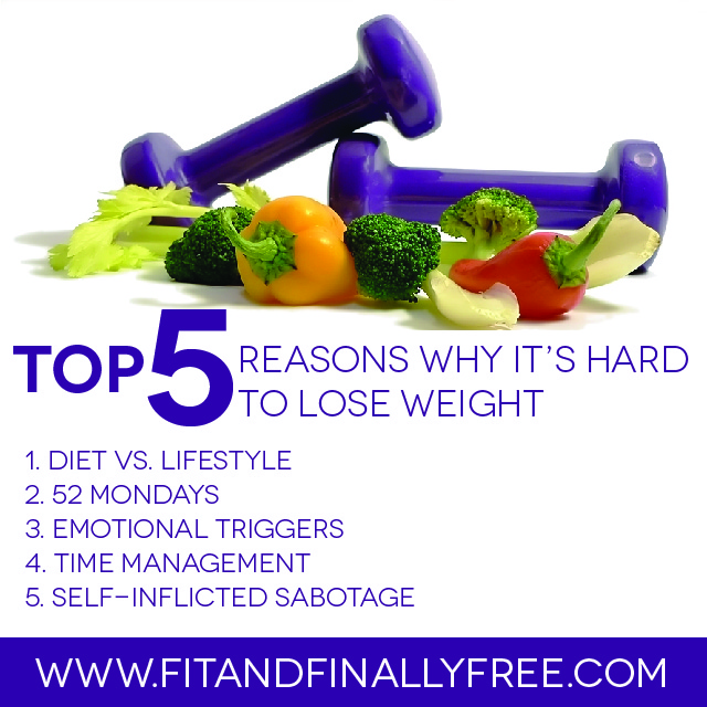 5 reasons why its hard to lose weight
