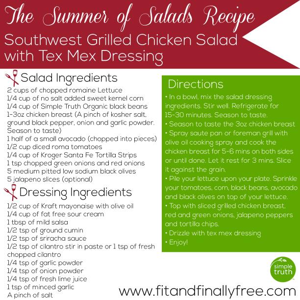 soutwest grilled chicken salad recipe 2